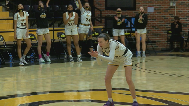 Aggies earn first LSC Tournament win since 2002