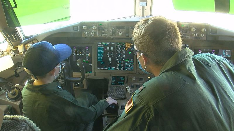 Friday was a special day at Altus Air Force Base as a brave kid who beat Leukemia got the...
