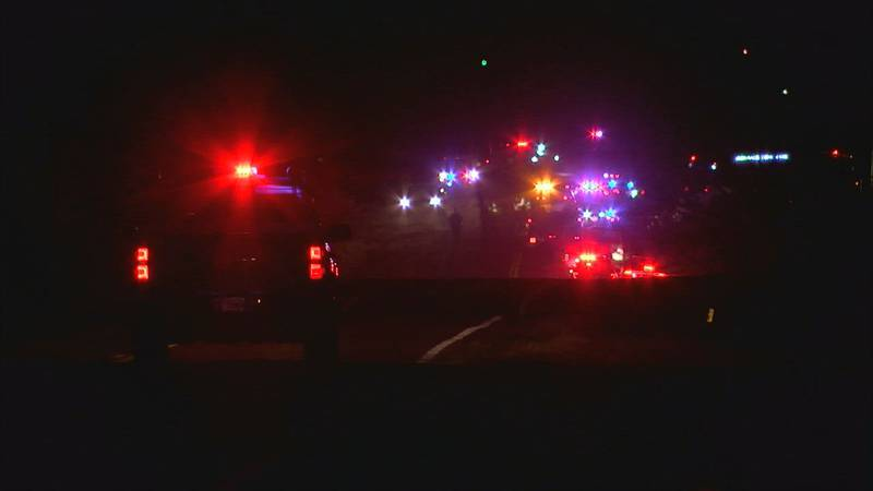 Two people were killed in a car crash east of Sterling Saturday night.