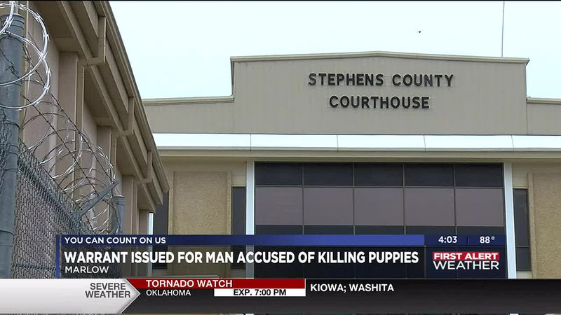 An arrest warrant has been issued for a man in Stephens County who is accused of killing two...