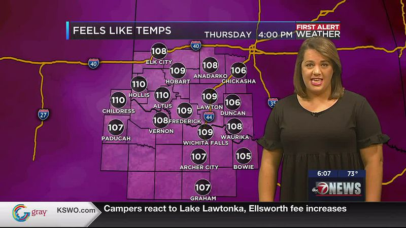 Hot and humid once again for this Thurs. June 10