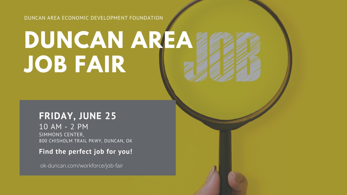 The job fair is set for 10 a.m. to 2 p.m. Friday, June 25 at the Simmons Center on Chisholm...