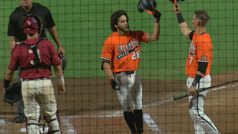 OSU opens Big 12 Tournament with 9-5 win over OU
