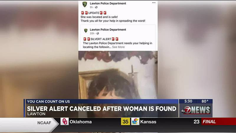 According to the Lawton Police Department, Autherine Marshall was found safe on Saturday night.