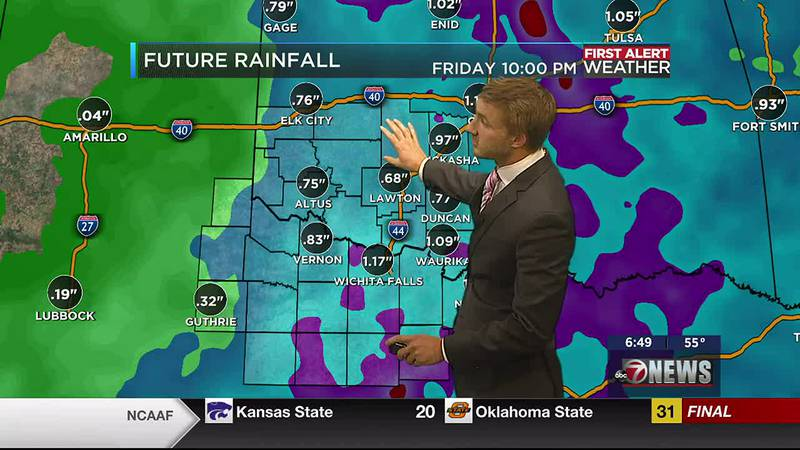 Rain possibilities increase Tuesday after dry and hot Sunday and Monday's
