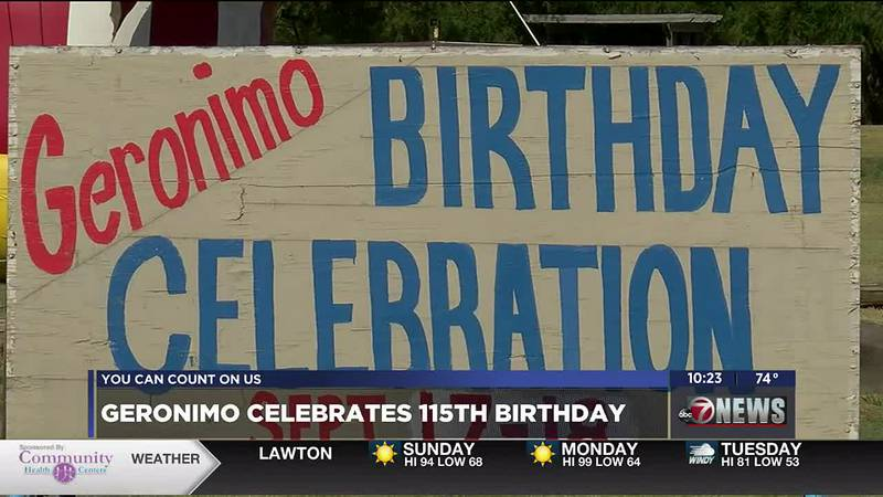 The Fire Chief said Geronimo didn't get to celebrate its birthday last year due to the pandemic.