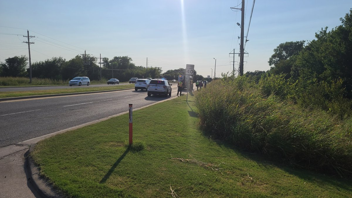 A motorcyclist was taken to a hospital after a crash in Lawton Monday evening.