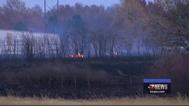 Crews were stretched thin Saturday afternoon fighting two brush fires southwest of Duncan.