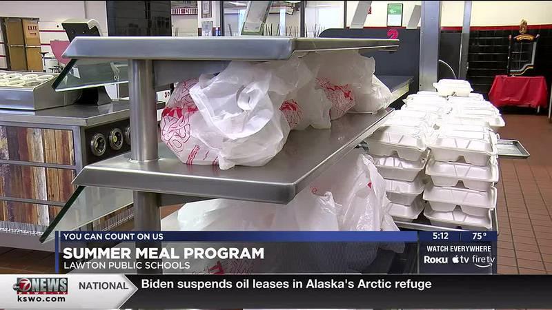 Lawton Public Schools kicked off its Summer Meals Program today.