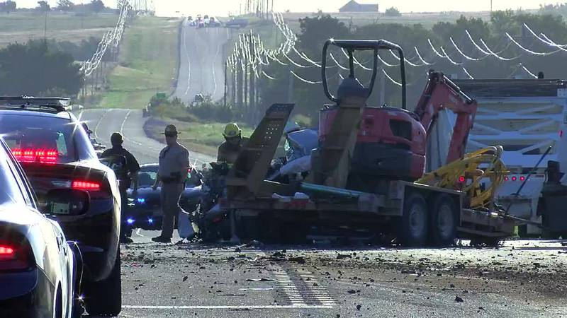 One person was flown to a hospital after a three-vehicle crash near Elgin Thursday.